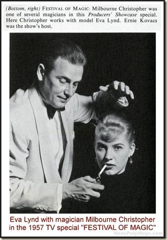 Eva Lynd in FESTIVAL OF MAGIC, 1957