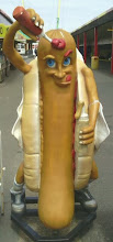 Photo: This hot dog character has more people posing for photos than anything in Skegness.