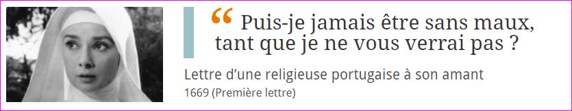 Lettre d'amour d'une religieuse