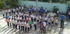 Cán bộ Đoàn và Đoàn viên trường Cao đẳng Cộng đồng Vĩnh Long tham dự buổi Lễ ra quân Chiến dịch Thanh niên tình nguyện hè năm 2013