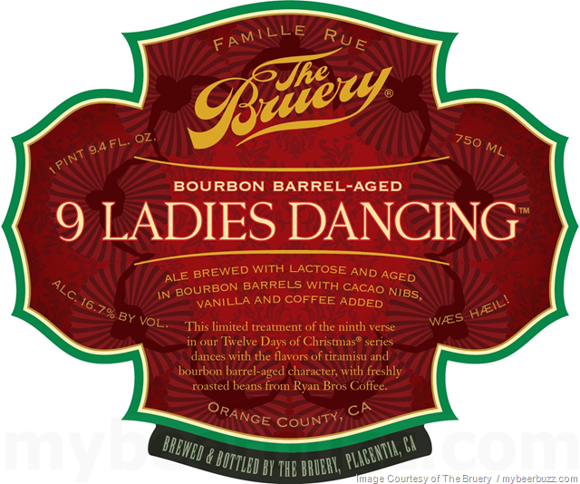 The Bruery - Bourbon Barrel-Aged 9 Ladies Dancing