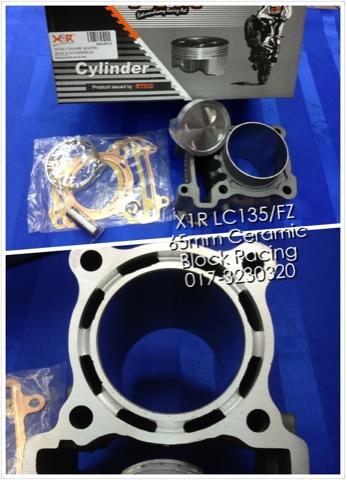CH Motorcycle Store: X1R LC135 / FZ150 65mm Ceramic Block Racing