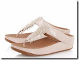 Fitflop Cha Cha nude beaded sandals