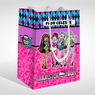 Caja Sorpresa para Fiesta de MONSTER HIGH | Gratis para Imprimir