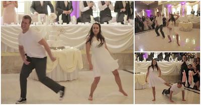 Noivos surpreendem com dança espectacular no seu casamento