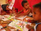 To teach to them to make handicrafts