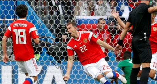 Partai Pembuka Piala Dunia 2018,Rusia Pesta Gol ke Gawang Arab Saudi