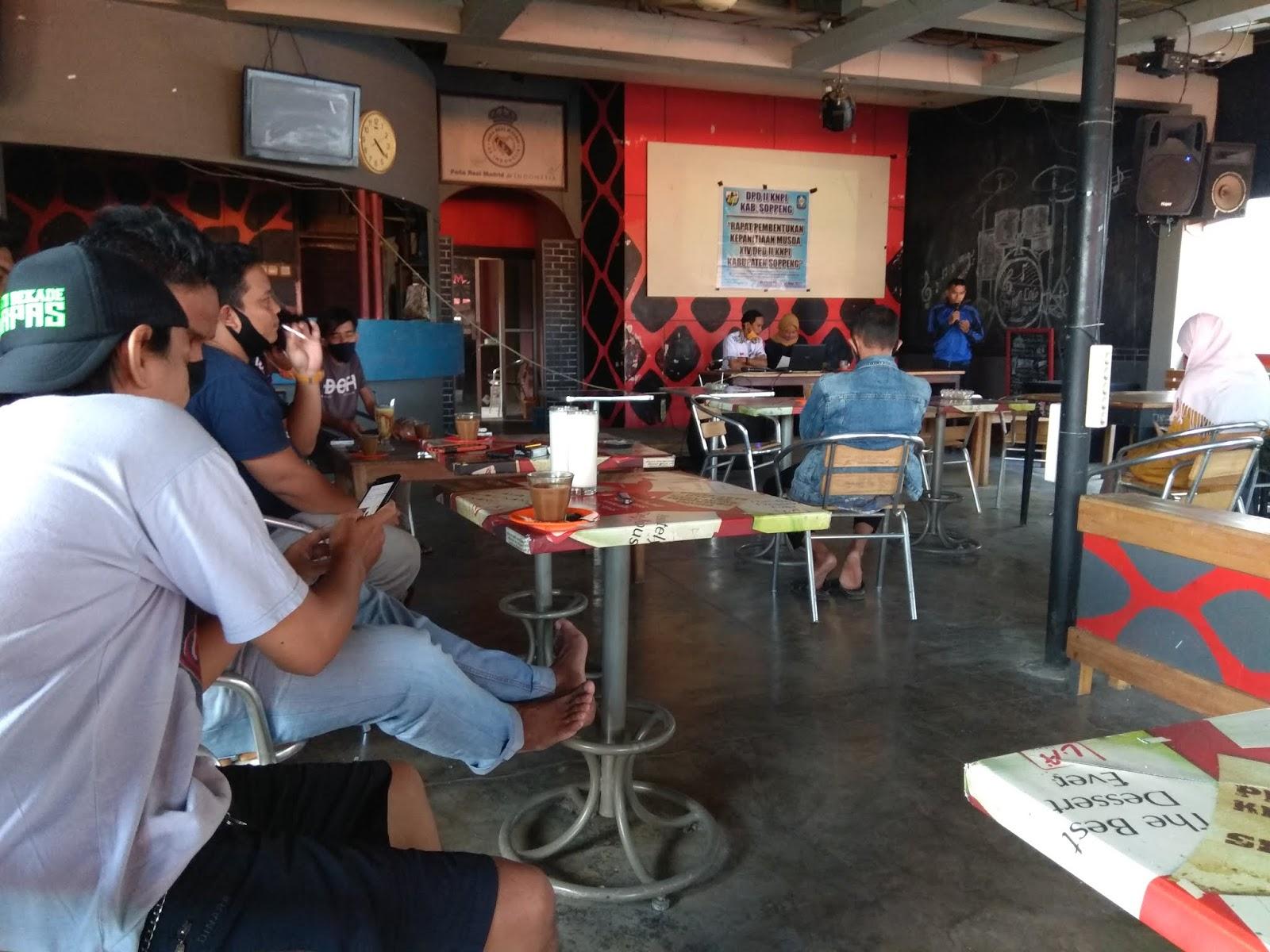 Ilham Saiful Pimpin Rapat Pembentukan Panitia Musda XIV DPD II KNPI Kab.Soppeng