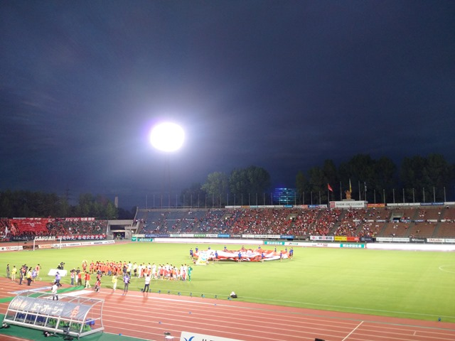 石川県西部緑地公園陸上競技場ツエーゲン金沢感想SA自由席