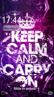 Keep Calm And Carry On Locker Theme - náhled