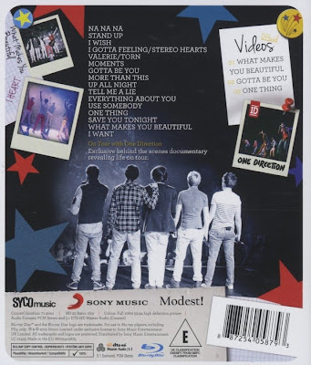 One Direction,Up All Night,Live tour , bluray, 2012, cover, concert, image