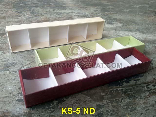 kemasan coklat cokelat sekat mika kotak karton KS-5ND