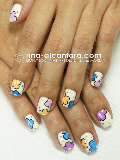 A Blooming New Year Nail Art by Simply Rins