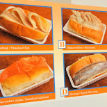 dutch fish sandwiches at Harbor Volendam in Volendam, Noord Holland, Netherlands