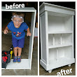 Trash to Treasure Tutorial: Don't Throw Away Those Flimsy Ikea Shelves!