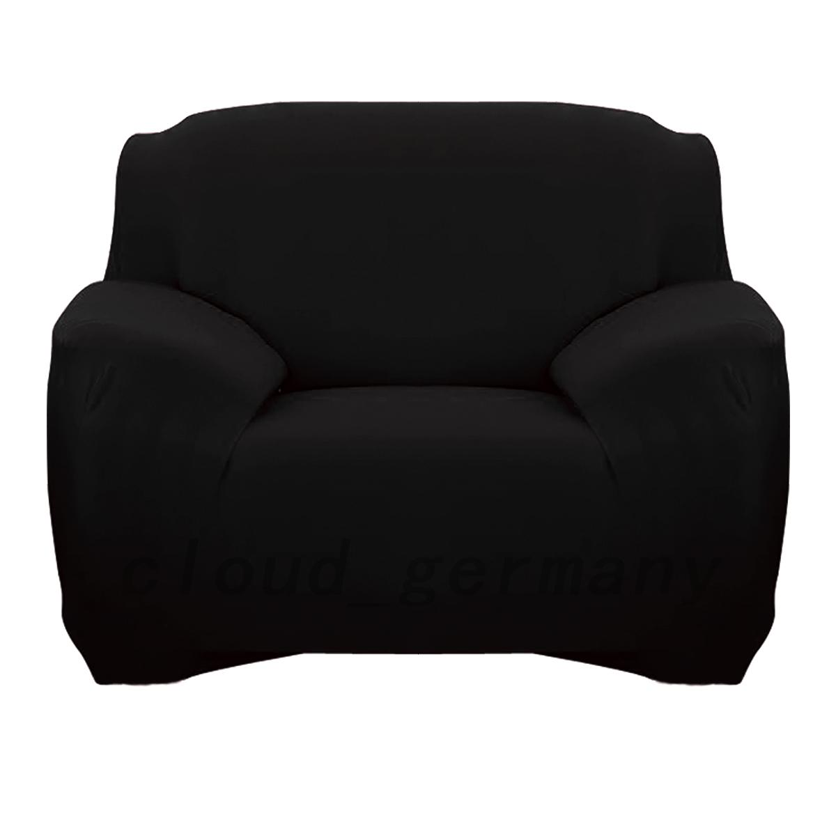 sofahussen sofaabdeckung elastische couchhusse polyester 1 2 3 sitzer sofadekor ebay. Black Bedroom Furniture Sets. Home Design Ideas