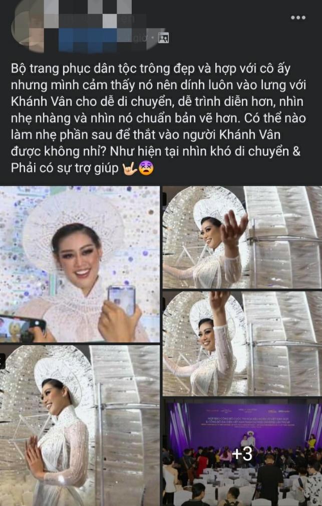 """Từ bản vẽ đến thành phẩm, """"Kén Em"""" – trang phục dân tộc của Khánh Vân vẫn gây tranh cãi trước thềm Miss Universe"""