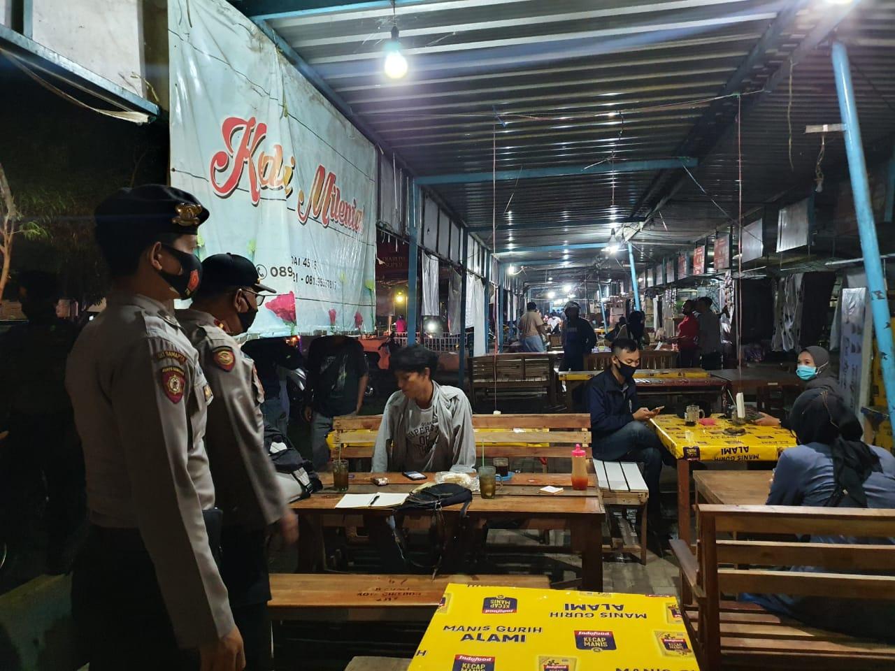 Patroli Gabungan Piket Fungsi Polres Cirebon Kota, Bubarkan Soft Opening Cafe