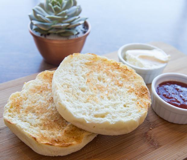 close-up photo of English Muffins
