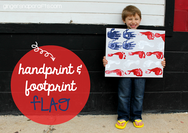 handprint & footprint flag #kidcraft #4thofJuly_thumb