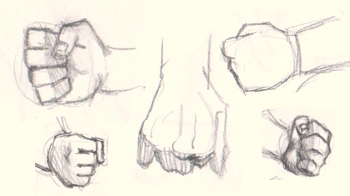Anime Characters Using Fist : How to draw fist hand different ways