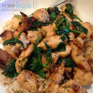 Chicken Spinach Saute.