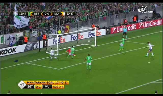 St. Etienne vs Manchester United Europa League Match Highlight
