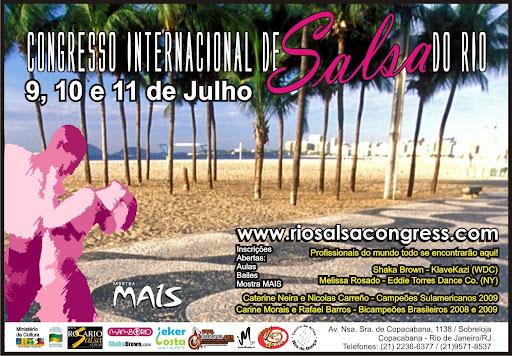 As aulas do Rio Salsa Congress aconteceram em 4 salas do Centro de Dança Nós da Dança, em Copacabana. No dia 11/07 fotografamos as aulas de Caterine Neira e Nicolas Carreno (campeões sulamericanos 2009), Melissa Rosado (NY), Shaka Brown (WDC) e Eder Soares.