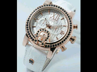 Jual jam tangan Aigner romawi  white leather