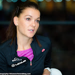STUTTGART, GERMANY - APRIL 19 : Agnieszka Radwanska talks to the media at the 2016 Porsche Tennis Grand Prix