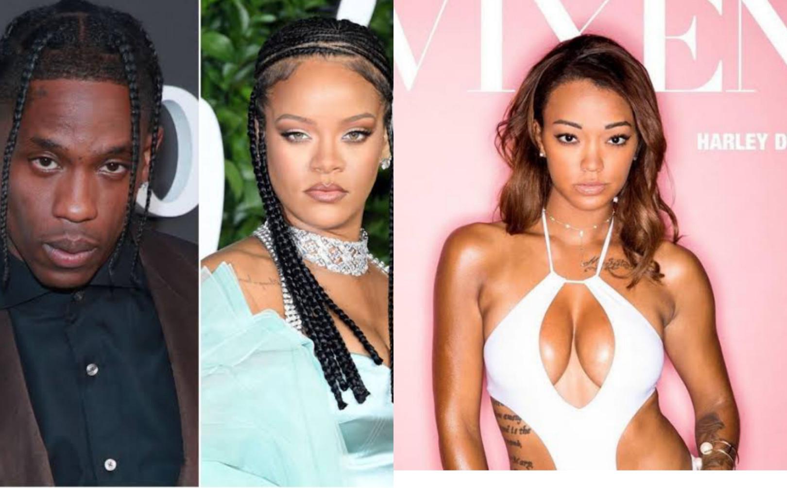 Pornstar, Harley Dean accuses Rihanna & Travis Scott of spreading STDs (video)