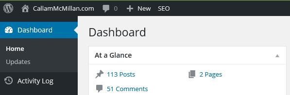 Wordpress homescreen