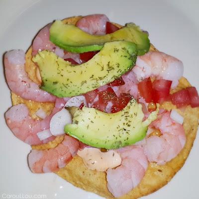 CarouLLou.com Carou LLou in Mexico city shrimps tostada +
