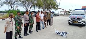 Kasdim 0913/PPU Hadiri Pelepasan Bansos Bencana Gempa Prov Sulbar oleh Pemkab PPU