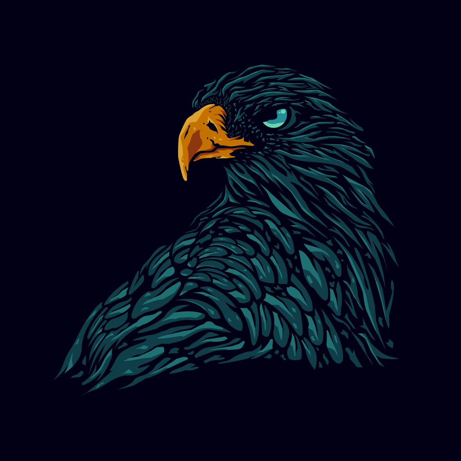 Eagle Head Illustration Free Download Vector CDR, AI, EPS and PNG Formats