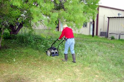 mowing Harlan Park