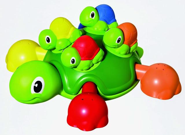 Bộ đồ chơi khi tắm gồm Rùa mẹ cõng trên lưng bốn chú Rùa con