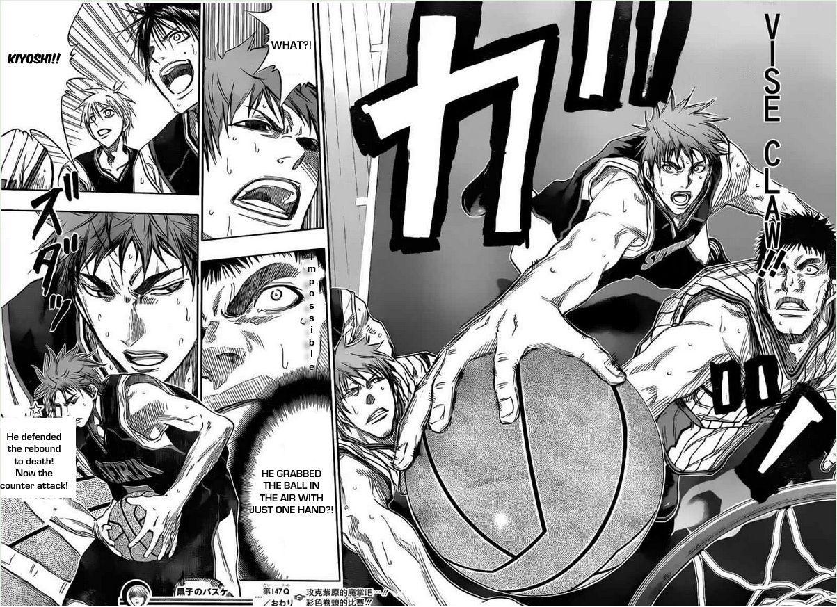 Kuroko no Basket Manga Chapter 147 - Image 18-19