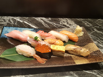 Sample Edo-style sushi selection.
