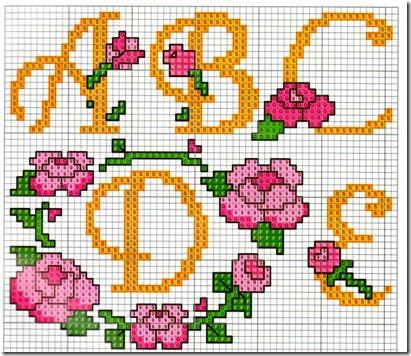 abc punto de cruz con flores (1)