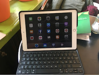"Apple iPad Pro 9,7"" rosegold 128 GB mit Logi-Tastatur"