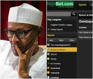 NaijaBet puts President Buhari's return on stake - Details (Photo)