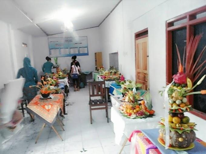 Lomba Merangkai Sayur Dan Buah Meriahkan Hari Kartini di Ujungwatu Jepara