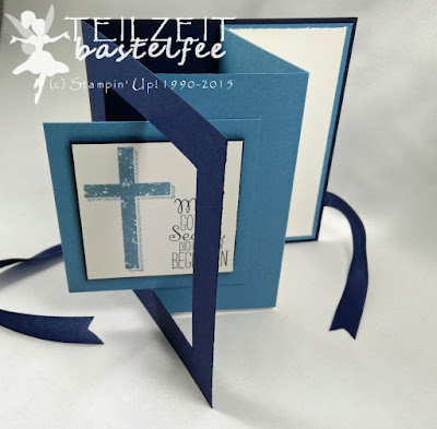 Stampin' up! - In{k}spire_me #240, Sketch Challenge, Gesegnet, Blessed by God, Confirmation, Konfirmation, Pop Out Swing Card