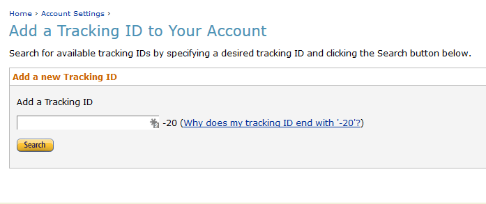 Id tracking Amazon