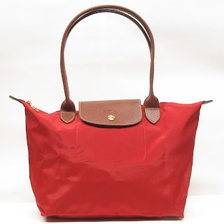 Longchamp Red Le Pliage Small Tote Bag