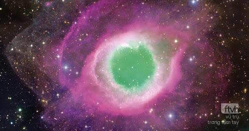 Tinh vân Helix chụp bởi kính thiên văn CFHT