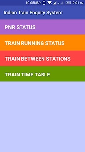 Indian Train Enquiry System - náhled