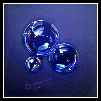 colour pencil work by bmanikarts.in - bubbles