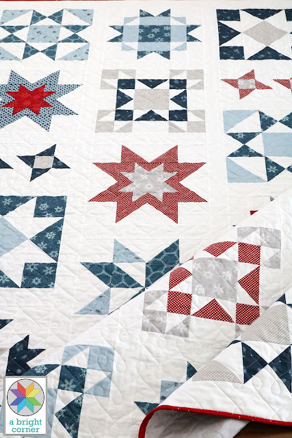 Clear Sky quilt - a modern star quilt pattern from A Bright Corner